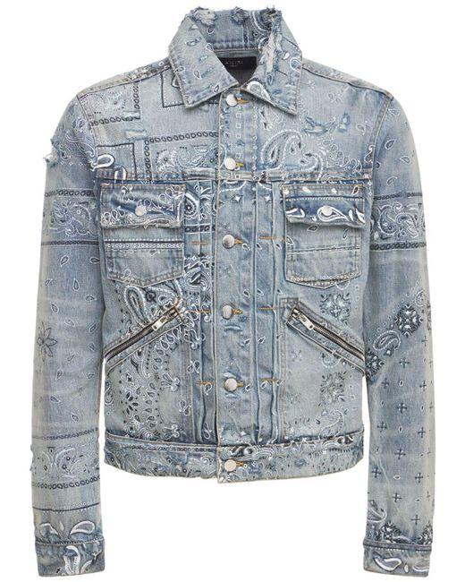 メンズ Amiri Bandana トラッカージャケット Blue