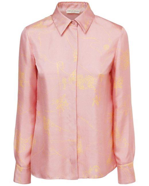 Emilio Pucci シルクツイルシャツ Pink