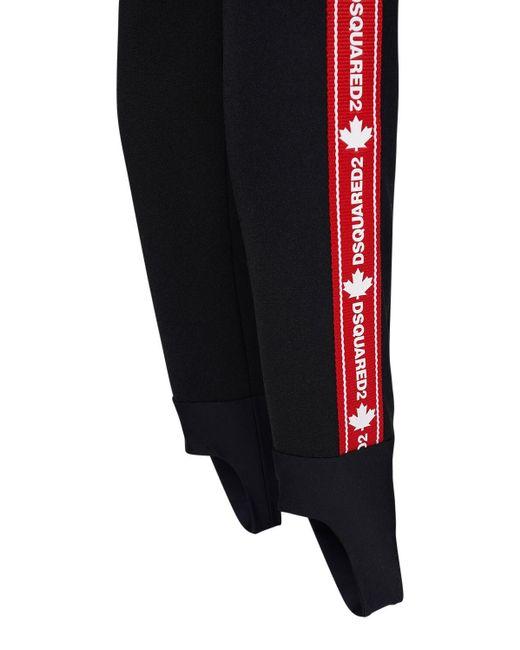 DSquared² テクノジャージースキーパンツ Black