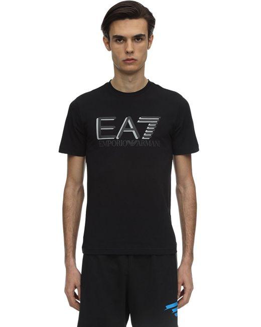 メンズ EA7 コットンジャージーtシャツ Black