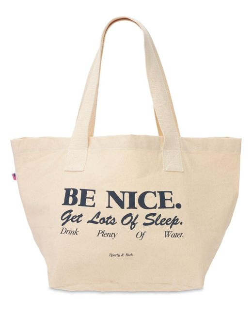 Sporty & Rich Be Nice トートバッグ Blue
