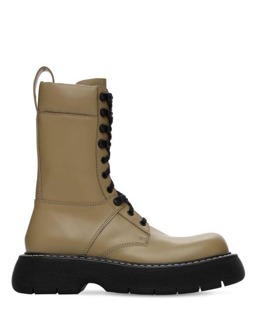 Кожаные Ботинки-комбат 35mm Bottega Veneta, цвет: Natural