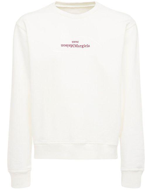 メンズ Maison Margiela コットンスウェットシャツ White