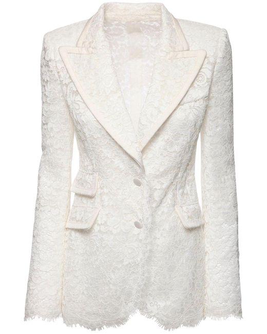 Dolce & Gabbana シアーレースジャケット White