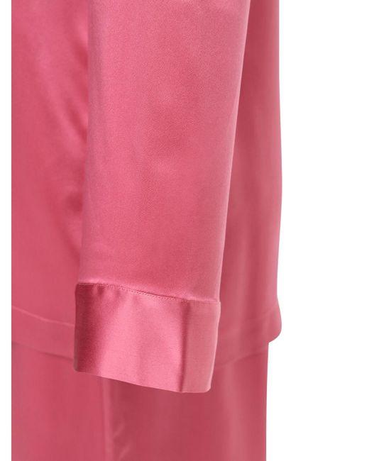 Luna Di Seta シルクサテンパジャマ Pink