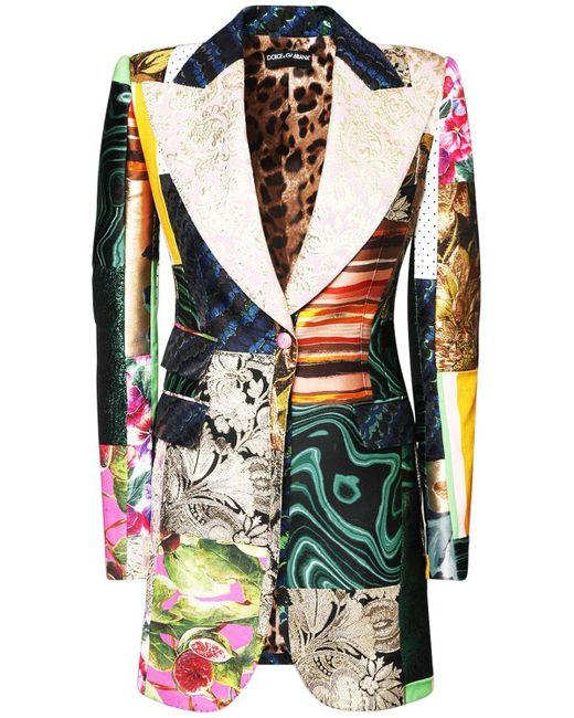 Dolce & Gabbana Patchwork ジャカードジャケット Multicolor