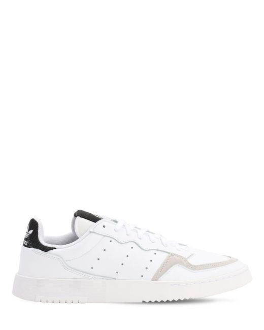 Adidas Originals Supercourt レザースニーカー White