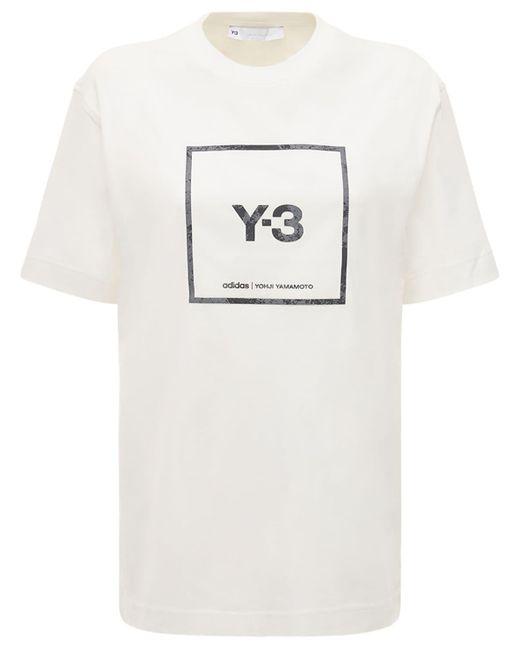 Y-3 Square Logo リフレクティブtシャツ White