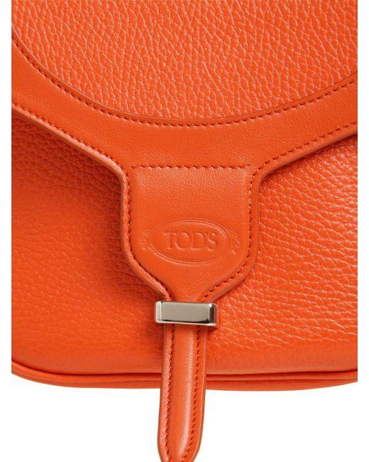 Tod's レザーショルダーバッグ Orange