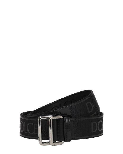メンズ Dolce & Gabbana テックベルト 35mm Black