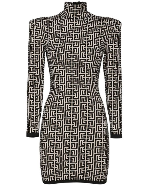 Платье Из Смешанной Шерсти Balmain, цвет: Black