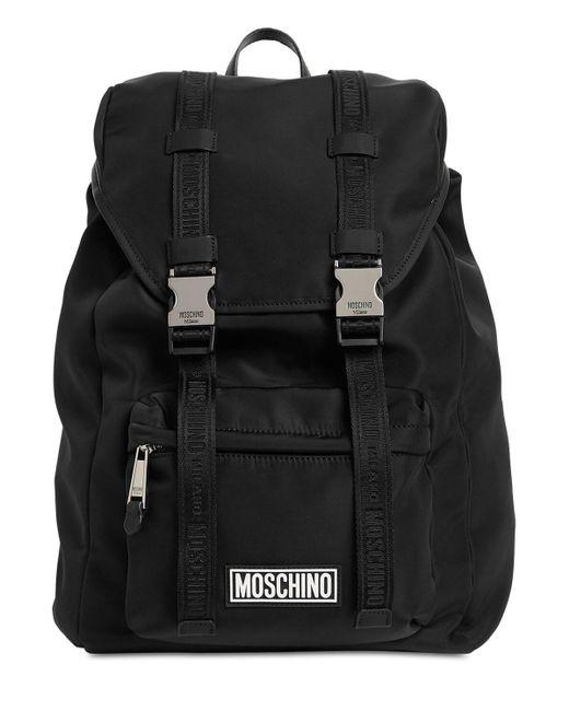 メンズ Moschino ナイロンバックパック Black