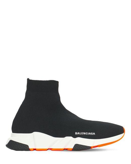 メンズ Balenciaga Speed Lt Sport ニットスニーカー Black