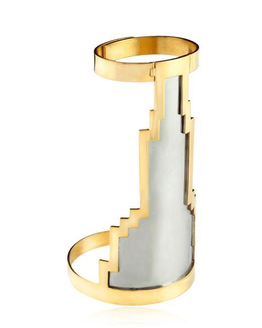 Monica Sordo Metallic Kavanagh Cuff Bracelet