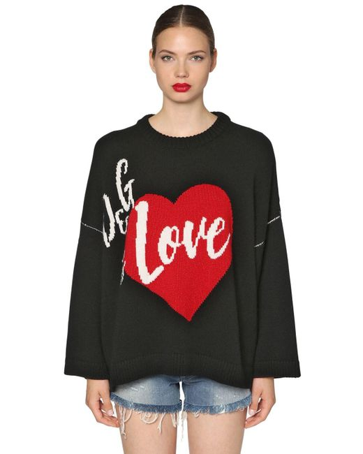 Dolce & Gabbana オーバーサイズカシミアブレンドセーター Black