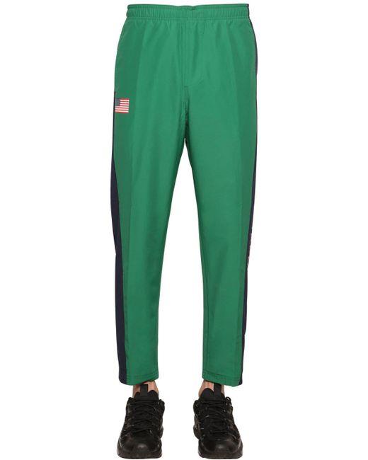 メンズ Polo Ralph Lauren Freestyle ナイロンパンツ Green
