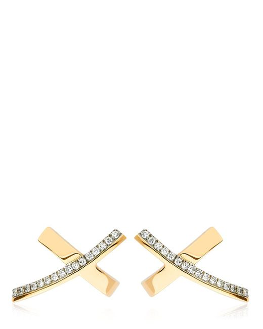 Antonini - Metallic Siracusa Diamond Earrings - Lyst