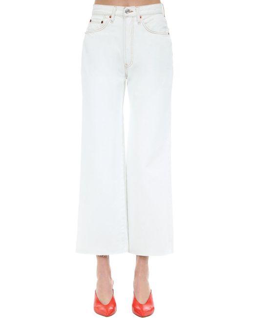 Re/done White Jeans Aus Baumwolldenim