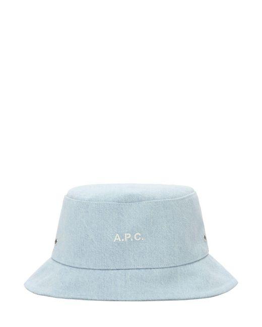 A.P.C. デニムバケットハット Blue
