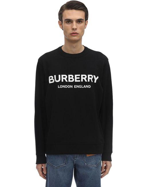 Свитшот Из Хлопкового Джерси Burberry для него, цвет: Black