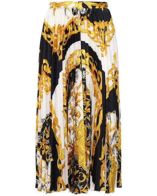 Юбка Из Саржи Versace, цвет: Multicolor