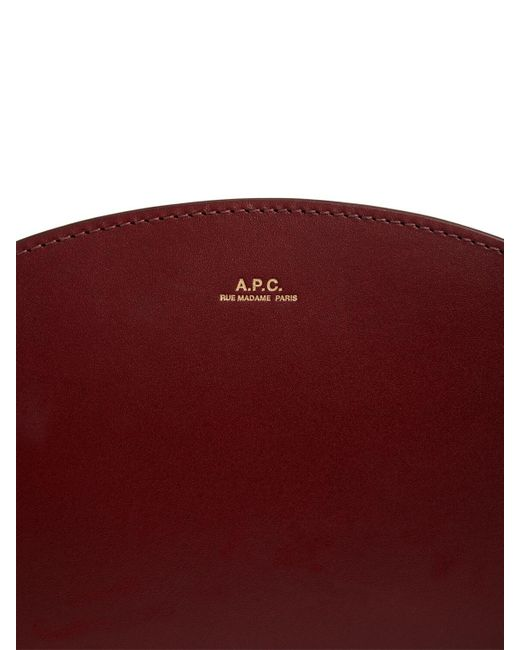 A.P.C. Demi Lune スムースレザーバッグ Red
