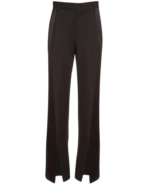 Брюки Из Шерсти С Атласными Полосками Vivienne Westwood, цвет: Black
