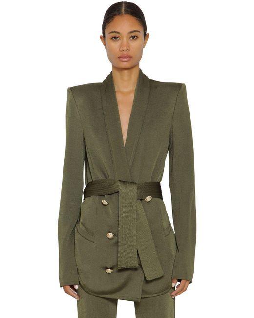 Двубортный Пиджак Balmain, цвет: Green