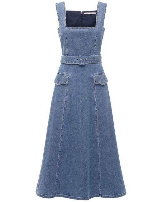 Emilia Wickstead コットンデニムドレス Blue