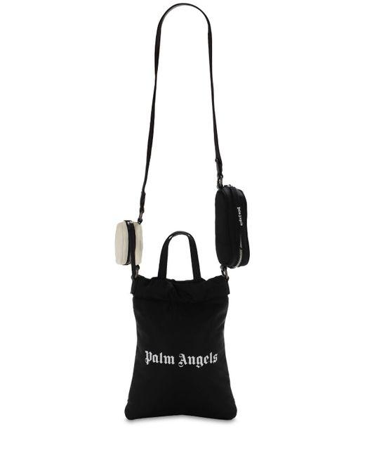 Palm Angels ナイロンショッピングバッグ Black