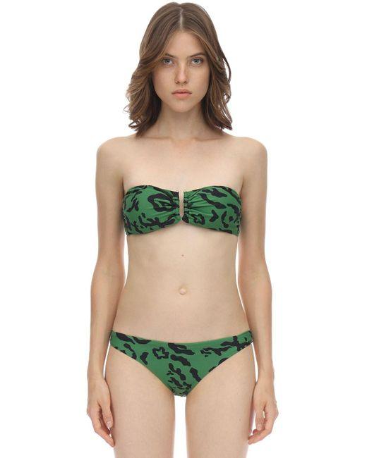 Топ-бикини Из Лайкры Self-Portrait, цвет: Green