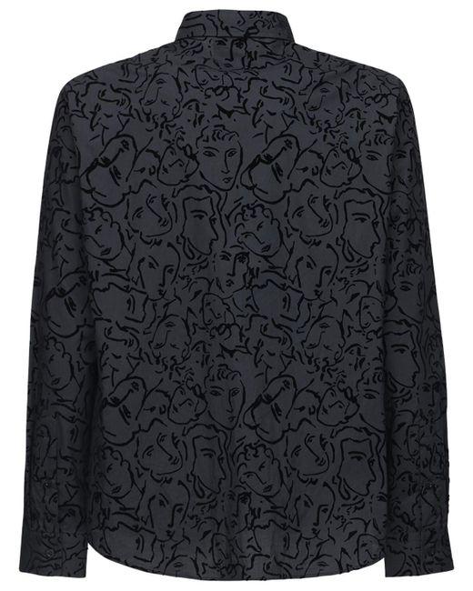 メンズ Moschino プリントコットンシャツ Black