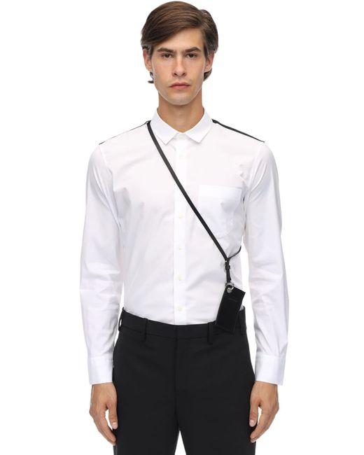 メンズ Neil Barrett コットンポプリンシャツ&ポーチ White