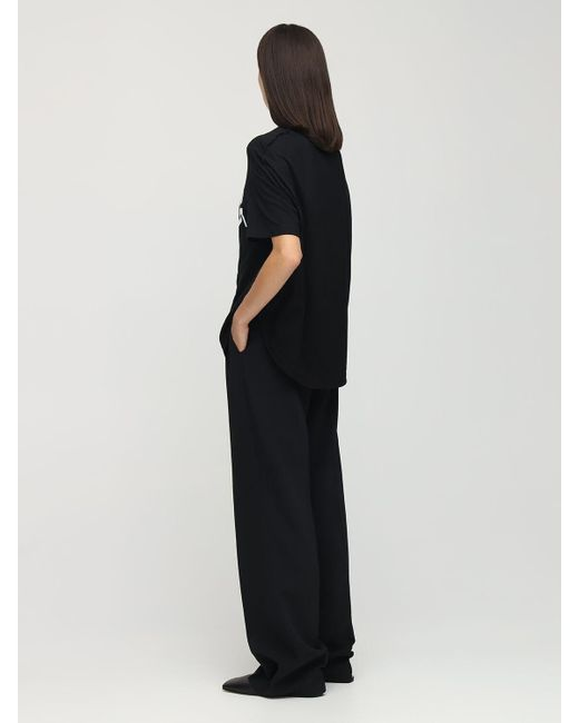 MM6 by Maison Martin Margiela コットンジャージーtシャツ Black