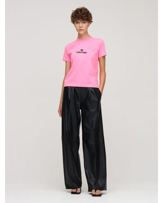 Balenciaga コットンジャージーtシャツ Pink