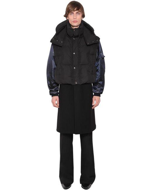 メンズ Givenchy ウールコート&ダウンボンバージャケット Black