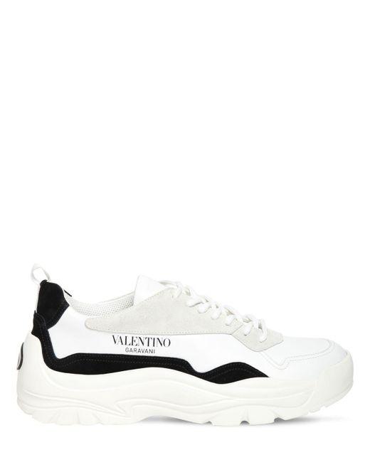 Valentino Garavani Valentino garavani sneakers aus leder und wildleder in White für Herren