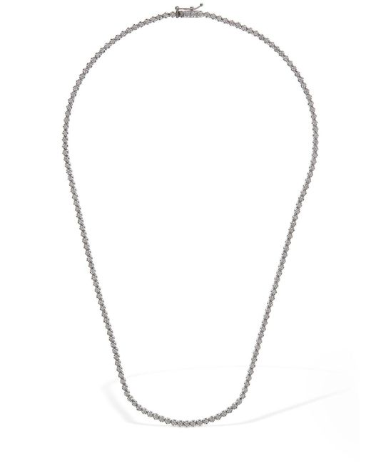 AG Jeans 18ktホワイトゴールド&ダイヤモンドネックレス Metallic