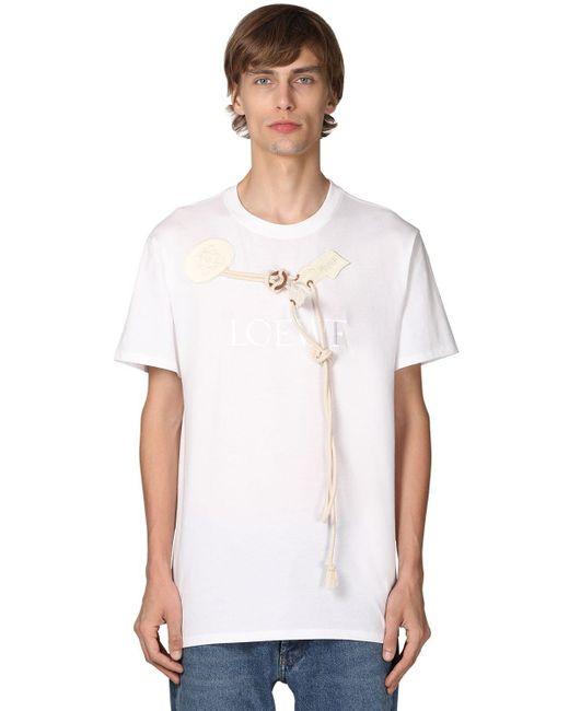 メンズ Loewe コットンジャージーtシャツ White