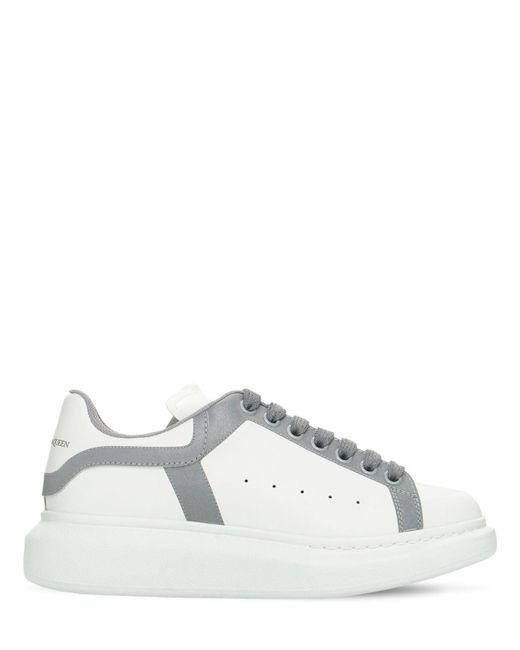Кожаные Кроссовки 45mm Alexander McQueen, цвет: White