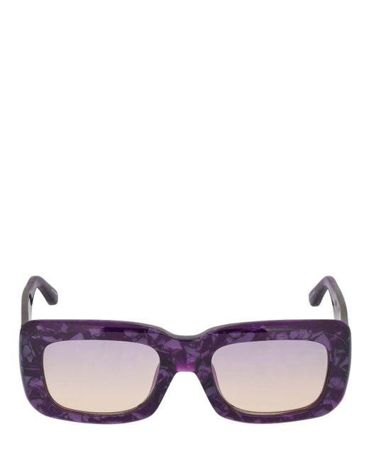 The Attico Marfa アセテートサングラス Purple