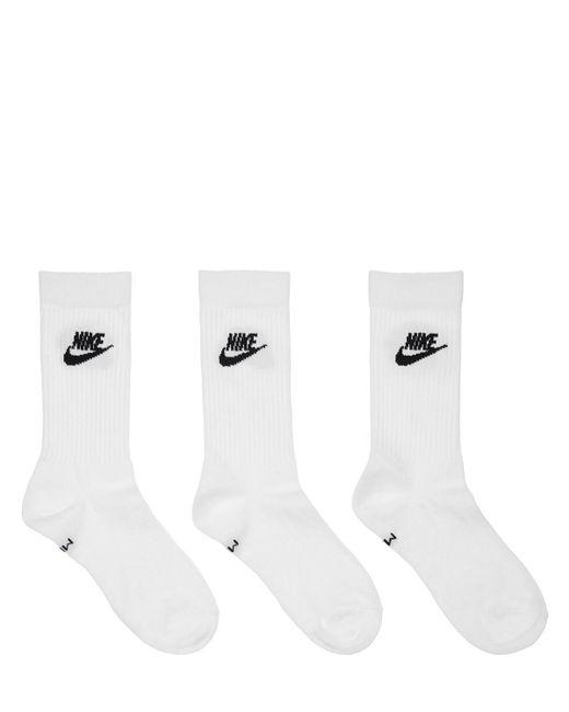 Носки Essential Crew Nike для него, цвет: White