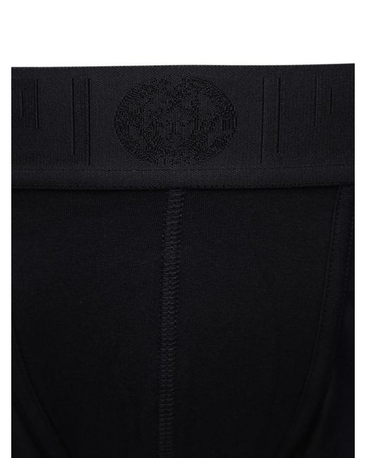 メンズ Versace ストレッチコットンボクサーブリーフ Black