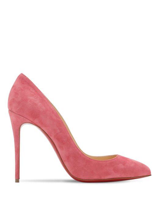 Christian Louboutin ピガーレ フォリ スエードパンプス 100 Pink