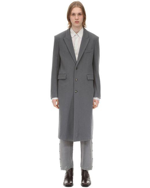 メンズ Rochas ウール シングルブレストコート Gray