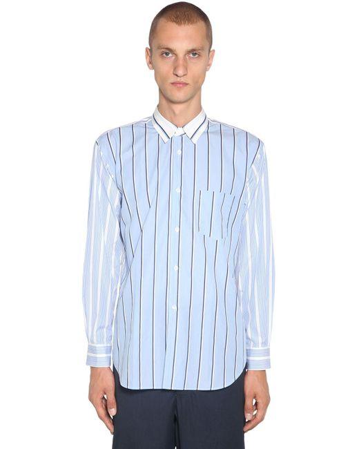 メンズ Comme des Garçons コットンポプリンシャツ Blue