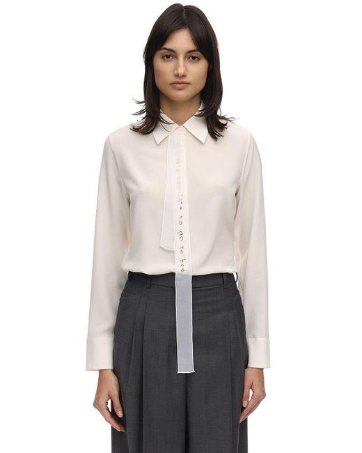Stella McCartney シアーサテンシャツ White