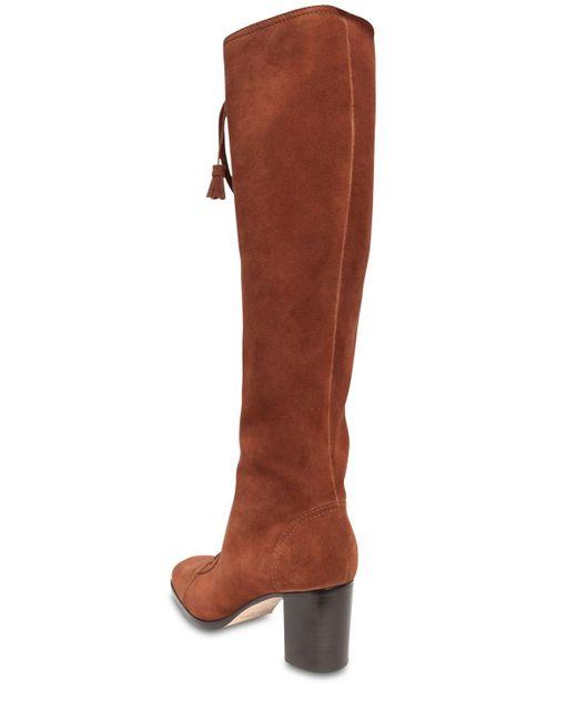 Alberta Ferretti スエードオーバーニーブーツ 65mm Brown