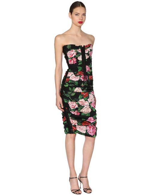 Dolce & Gabbana フローラルプリント ミディドレス Multicolor