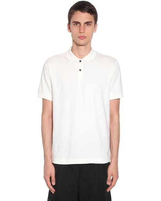 メンズ Jil Sander ジャージーポロシャツ White